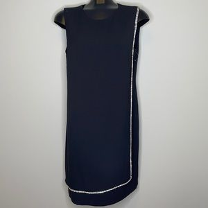 NWOT Marina little black dress with rhinestones 12